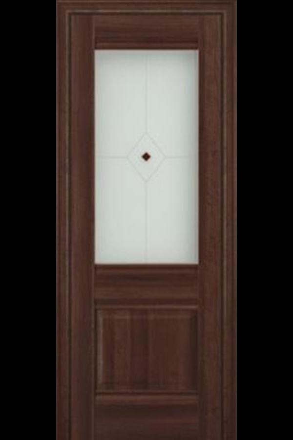 Profil Doors 2 х Сиена, Профиль дорс, Классика, Темная, Стекло