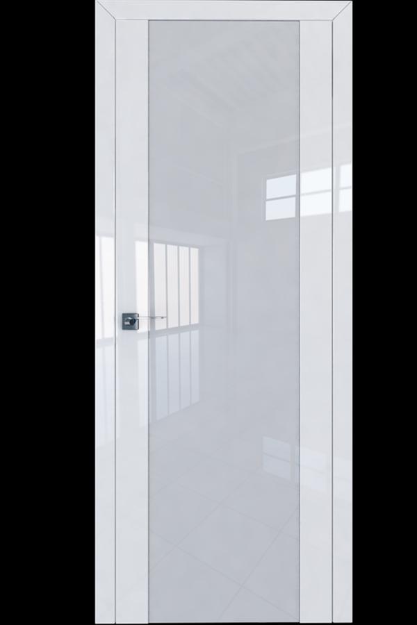 Profil Doors Дверь межкомнатная Профиль-Дорс серия 8 L Белый Люкс Белый Триплекс