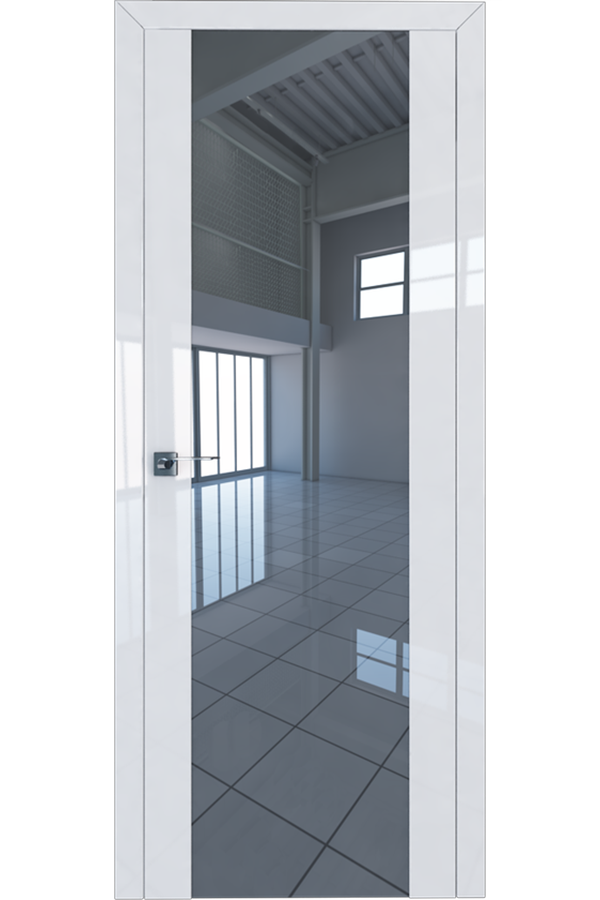 Profil Doors Дверь межкомнатная Профиль-Дорс серия 8 L Белый Люкс Зеркало