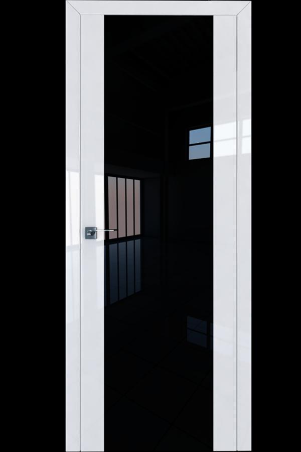 Profil Doors Дверь межкомнатная Профиль-Дорс серия 8 L Белый люкс Черный Триплекс