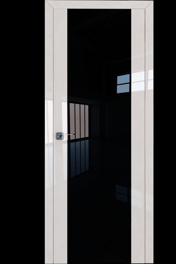 Profil Doors Дверь межкомнатная Профиль-Дорс серия 8 L Магнолия Люкс Черный Триплекс