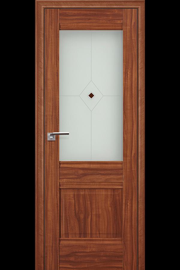 Profil Doors 2 х Амари, Профиль дорс, Классика, Темная, Стекло