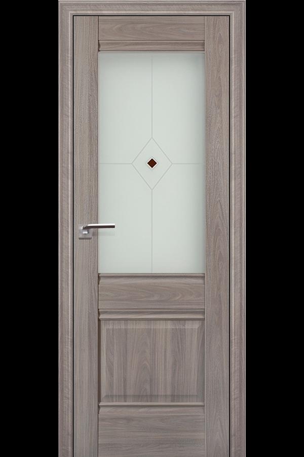Profil Doors 2 х Пекан, Профиль дорс, Классика, Темная, Стекло