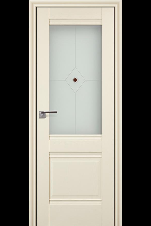 Profil Doors 2 х Эш Вайт, Профиль дорс, Классика, Темная, Стекло