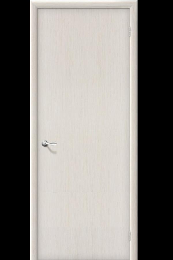 Межкомнатные двери , Ламинированные Гладкая Беленый Дуб