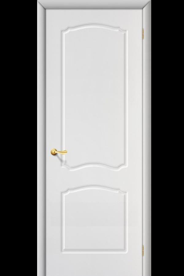 Межкомнатные двери ПВХ , Ламинированные Классика Глухая Белая