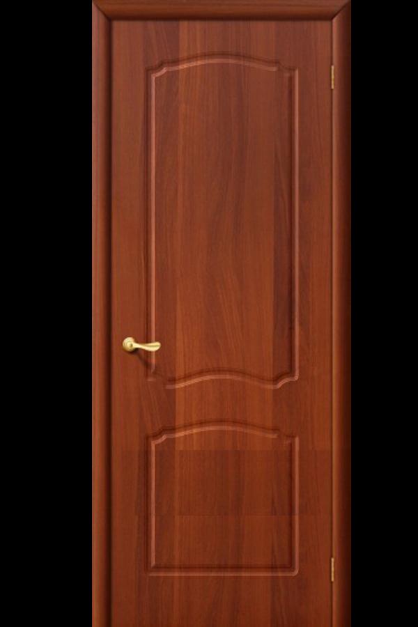Межкомнатные двери ПВХ , Ламинированные Классика Глухая Итальянский Орех