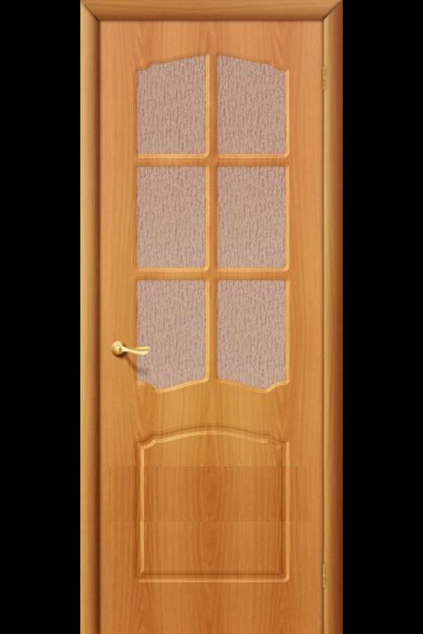 Межкомнатные двери ПВХ , Ламинированные Классика Остекленная Миланский Орех