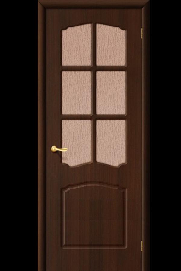 Межкомнатные двери ПВХ , Ламинированные Классика Остекленная Венге