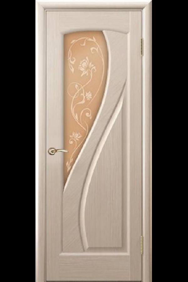 Ульяновские Двери Натуральный шпон Мария Беленый Дуб Стекло