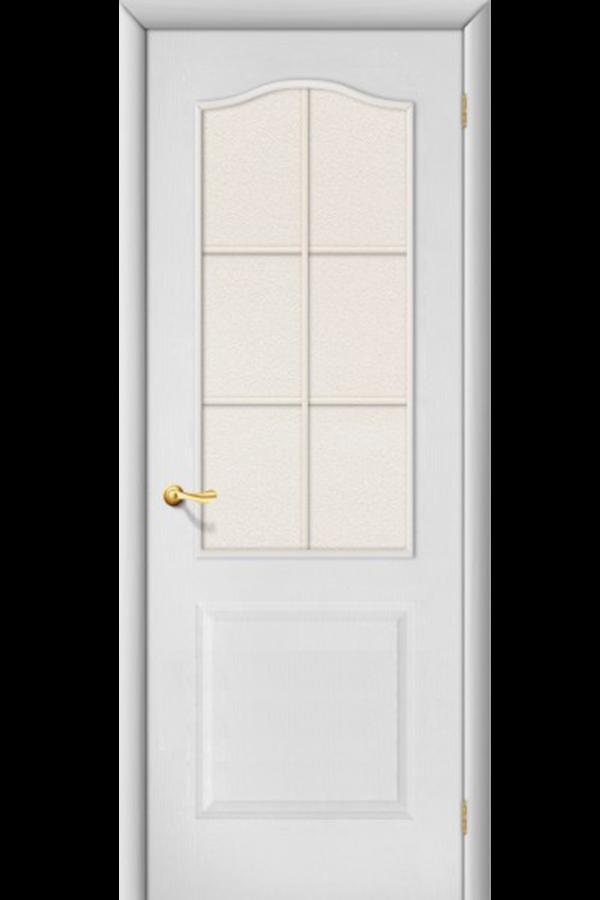 Межкомнатные двери , Ламинированные Палитра Стекло Белая