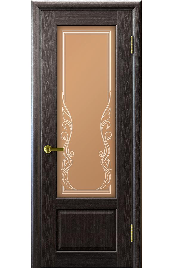 Ульяновские Двери Натуральный шпон Валенсия Черный Абрикос Ривьера