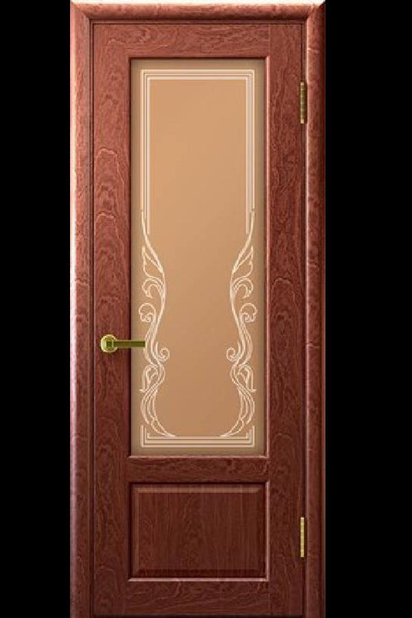 Ульяновские Двери Натуральный шпон Валенсия Красное Дерево Ривьера