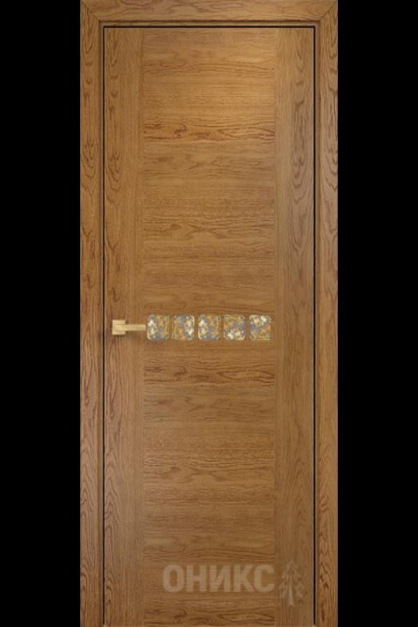 Акцент Дуб Золотистый Оникс Шпон Межкомнатные Двери