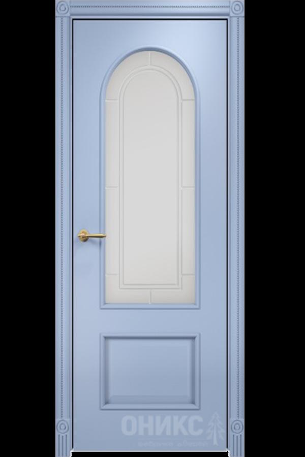 Арка Эмаль голубая МДФ, гравировка решётка